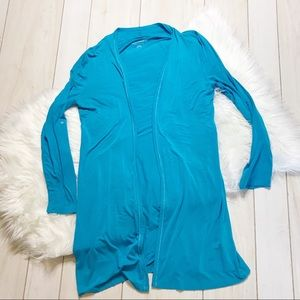 Soft Surroundings Turquoise Blue Biscayne Cardigan